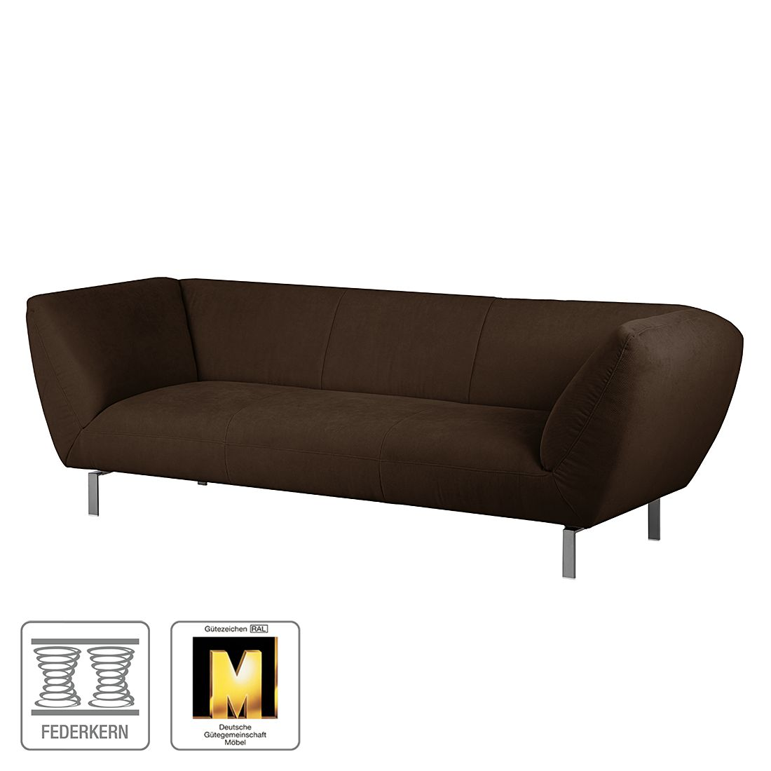 Sofa Blues (3-Sitzer) – Microfaser Schokobraun, Ultsch Polstermöbel bestellen