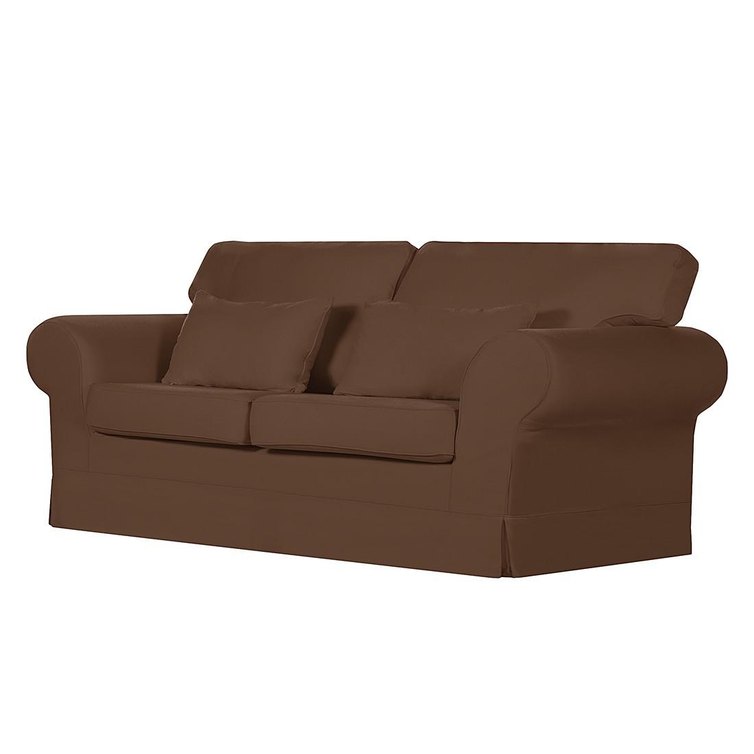 Sofa Bradford (3-Sitzer) – Baumwollstoff Braun, Maison Belfort günstig online kaufen