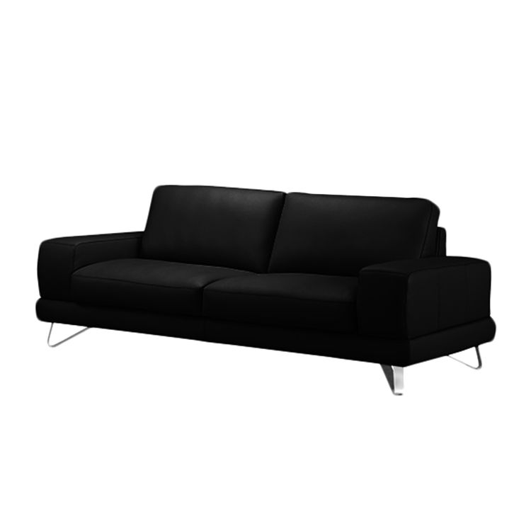 sofa bradley 2 5 sitzer kunstleder schwarz ohne kopfst tze loftscape kaufen. Black Bedroom Furniture Sets. Home Design Ideas