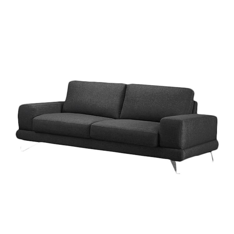 Sofa Bradley (2,5-Sitzer) – Webstoff Schwarz – Ohne Kopfstütze, loftscape günstig