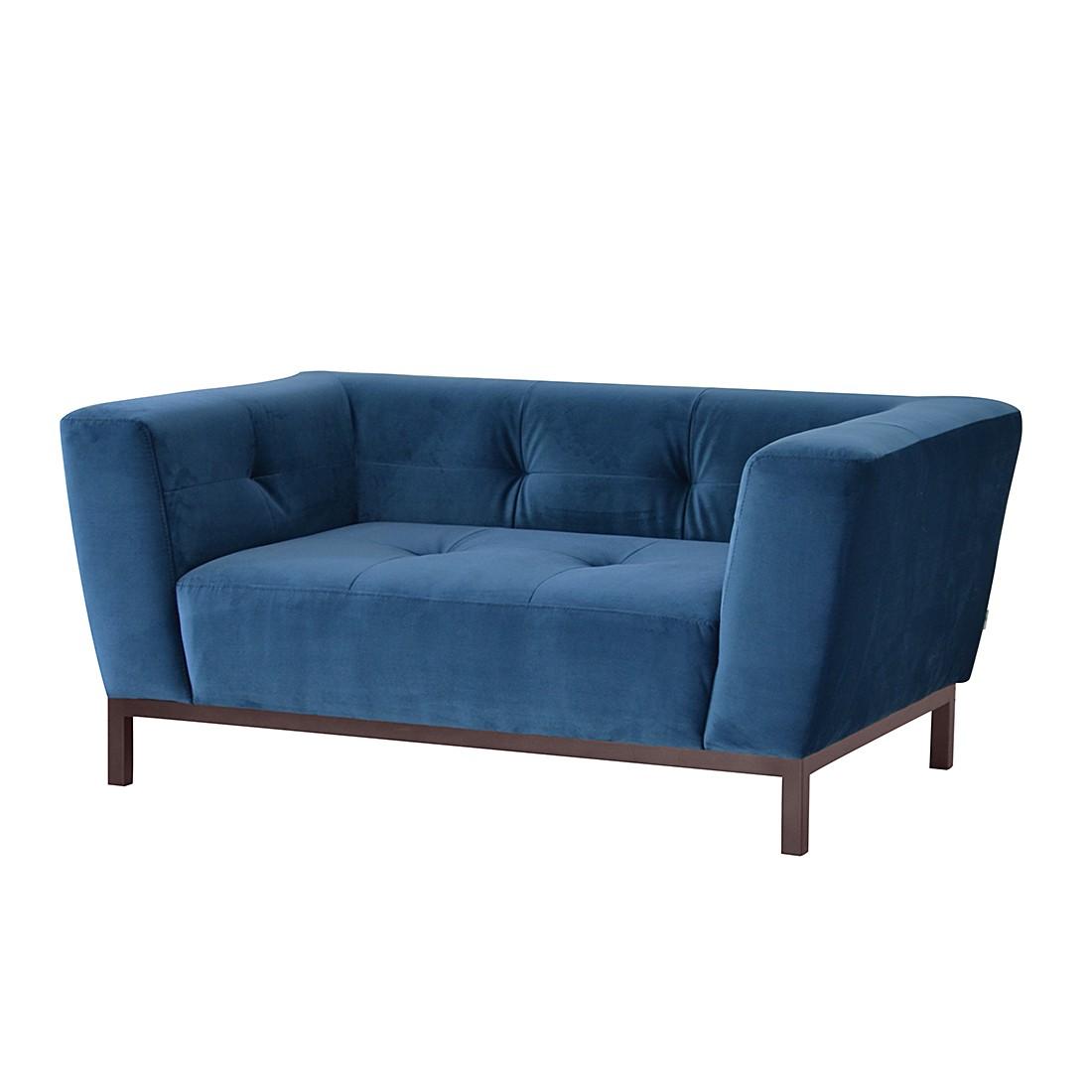 Sofa Bridget (2-Sitzer) – Microfaser – Dunkelblau, roomscape jetzt kaufen