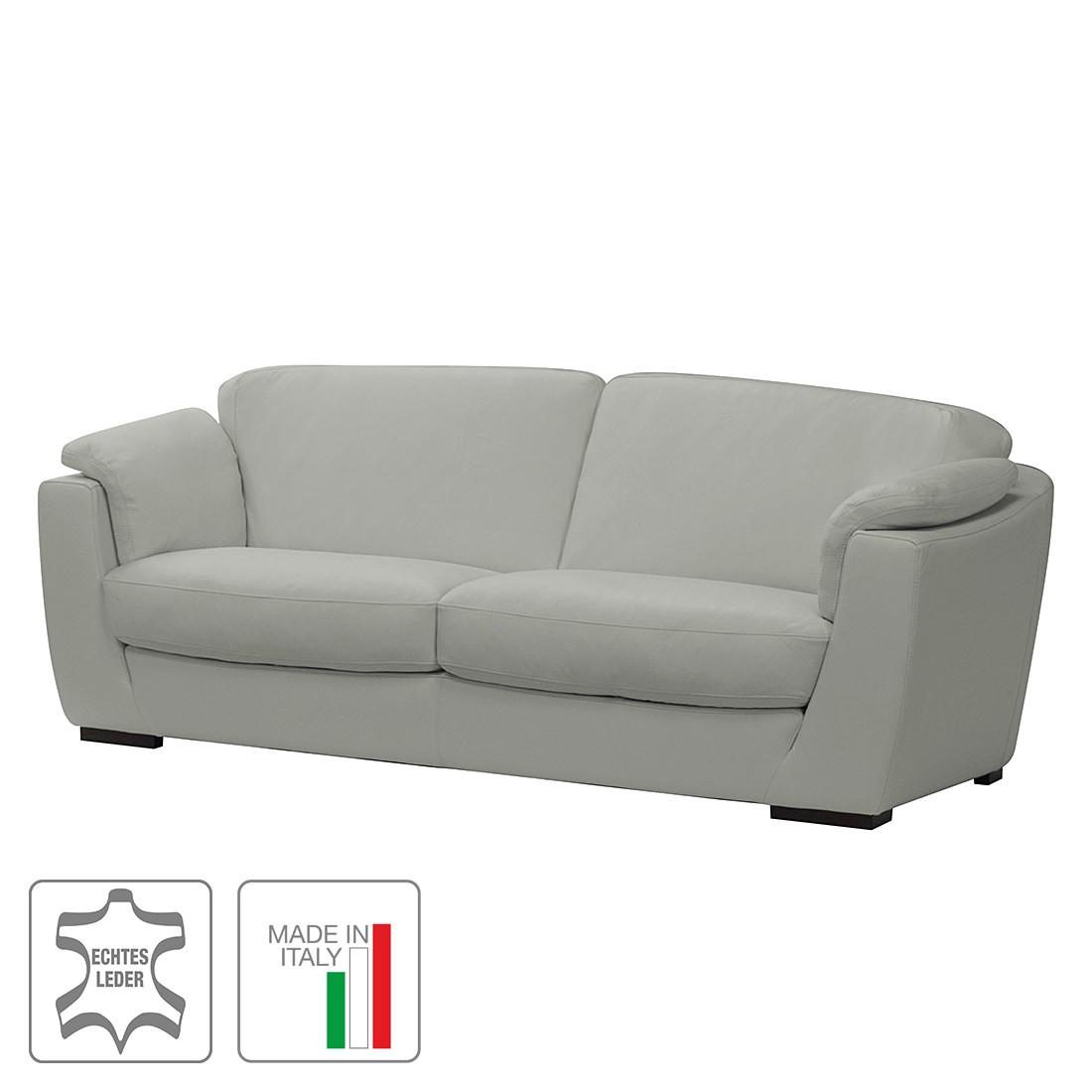 sofa bries 3 sitzer echtleder grau trend italiano g nstig. Black Bedroom Furniture Sets. Home Design Ideas