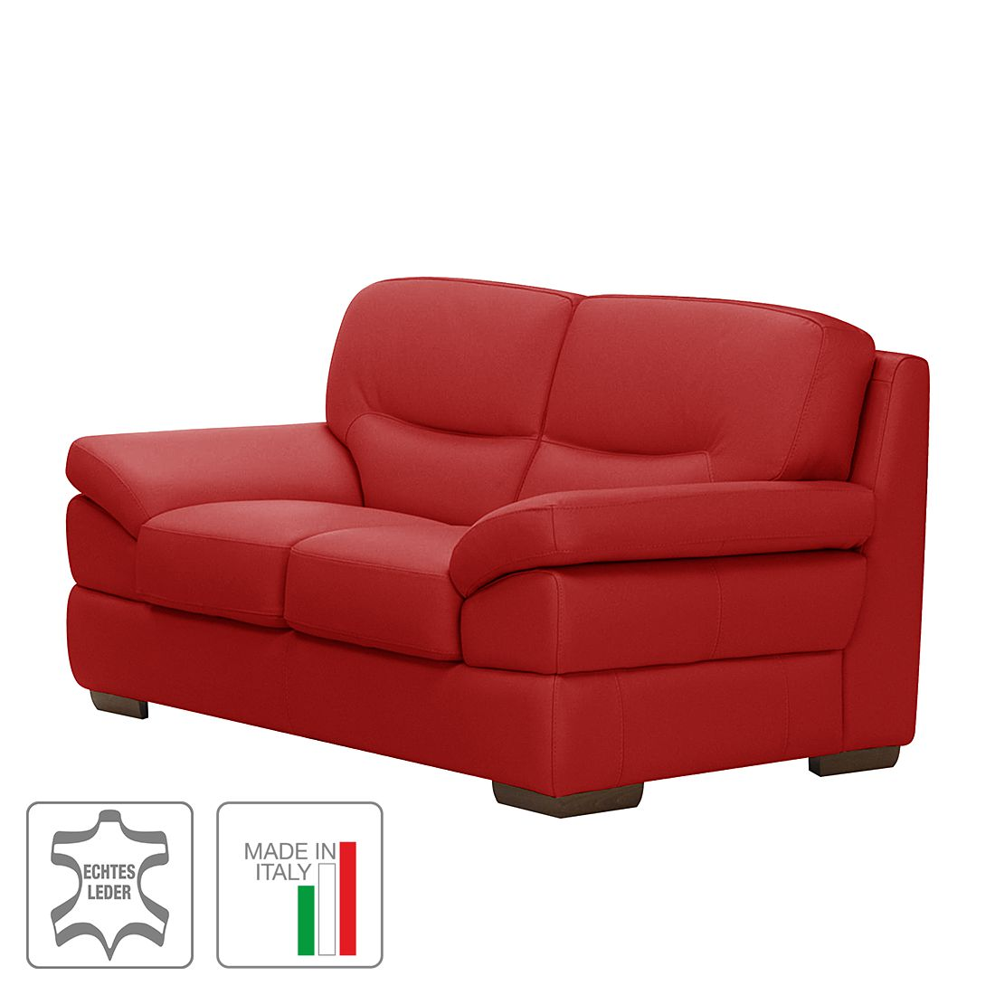sofa brunet 2 sitzer echtleder rot trend italiano kaufen. Black Bedroom Furniture Sets. Home Design Ideas