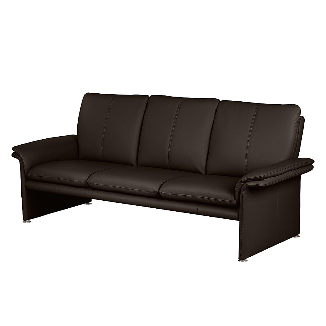 Sofa Capri (3-Sitzer) – Echtleder Dunkelbraun, Nuovoform günstig