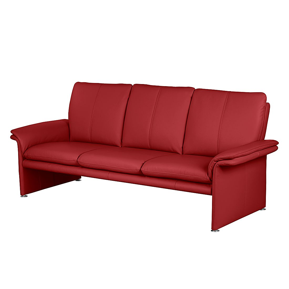 sofa capri 3 sitzer echtleder rot nuovoform g nstig. Black Bedroom Furniture Sets. Home Design Ideas