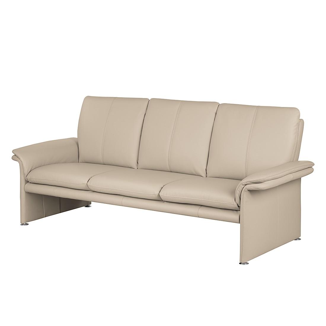 Sofa Capri (3-Sitzer) – Echtleder Taupe, Nuovoform günstig kaufen