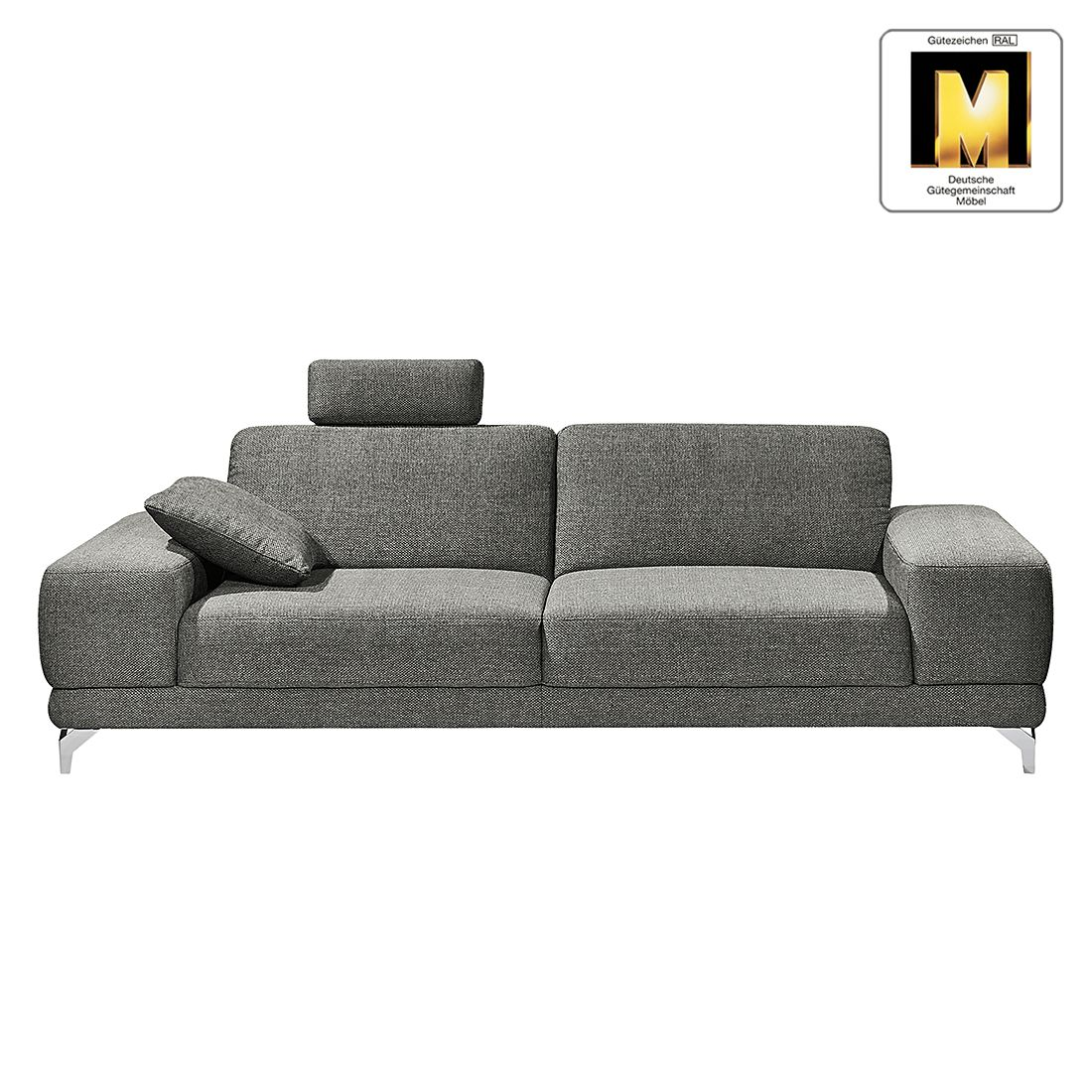 sofa casual line 2 5 sitzer strukturstoff keine funktion hellgrau claas claasen g nstig. Black Bedroom Furniture Sets. Home Design Ideas