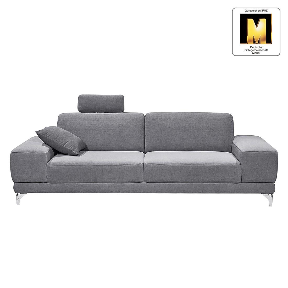 Sofa Casual Line (2,5-Sitzer) – Velours – Keine Funktion – Silbergrau, Claas Claasen günstig bestellen