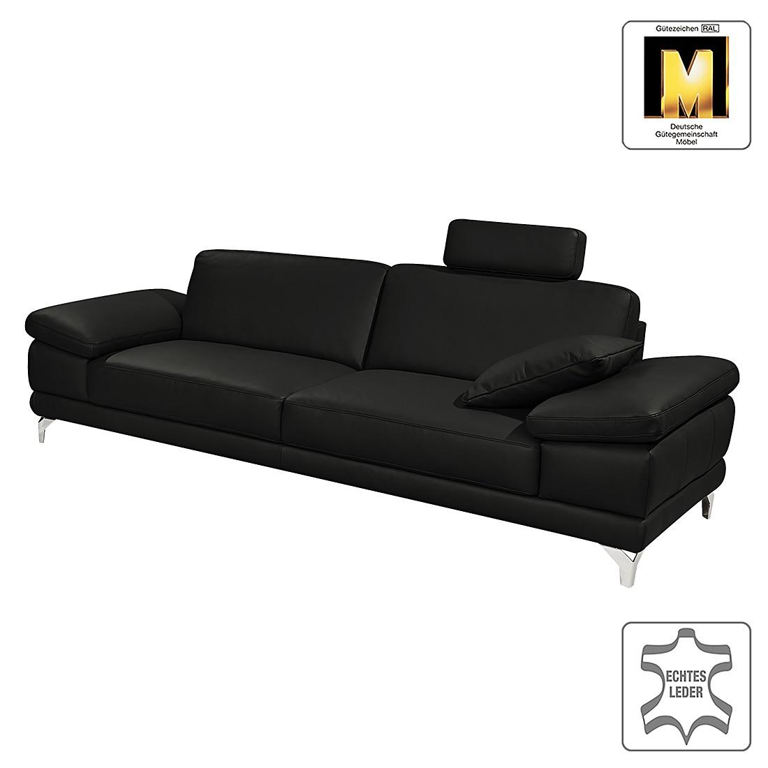 Sofa Casual Line (3-Sitzer) – Echtleder – Verstellbare Armlehnen – Schwarz – Gedecktes Dickleder, Claas Claasen jetzt kaufen