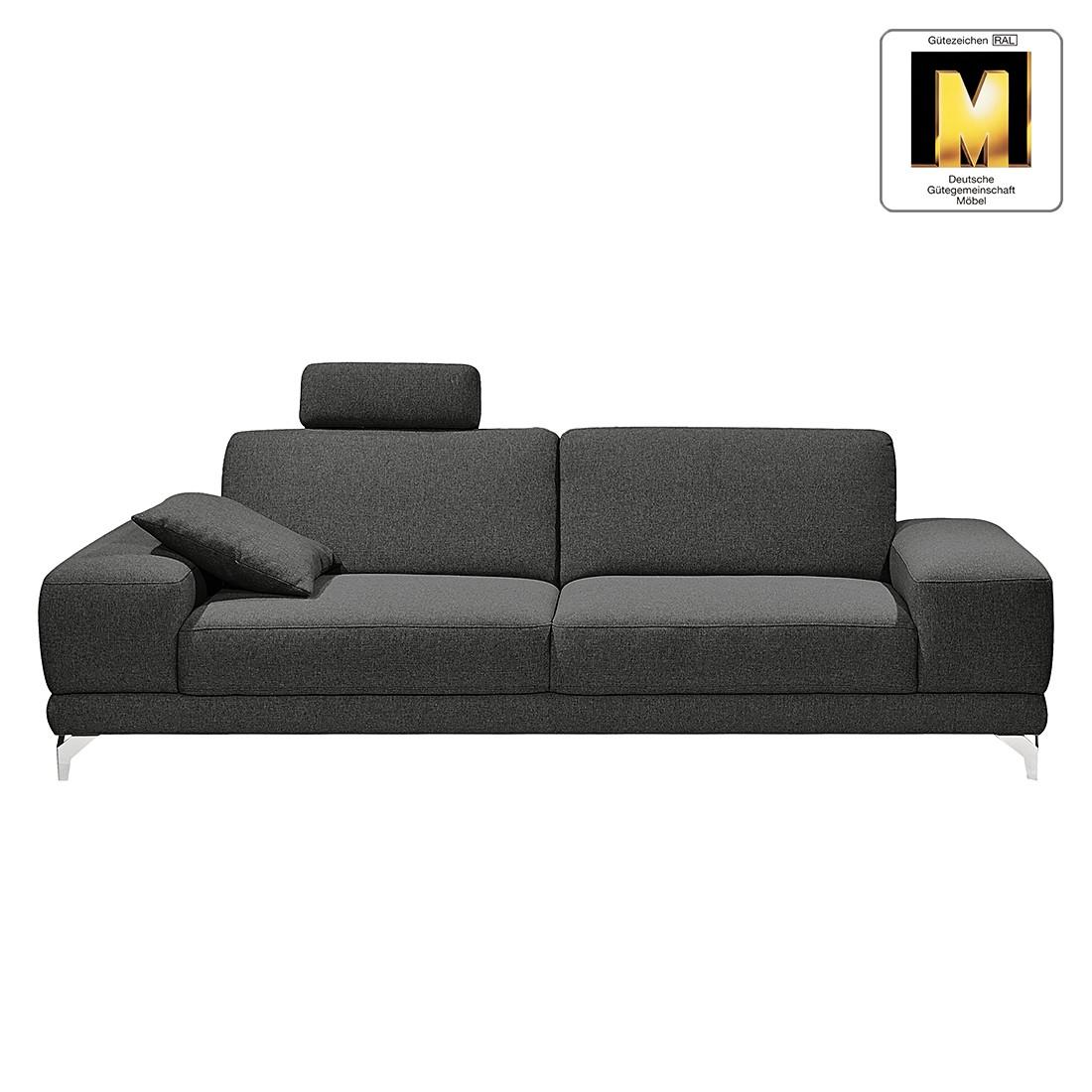 Sofa Casual Line (3-Sitzer) – Strukturstoff – Keine Funktion – Anthrazit, Claas Claasen online kaufen