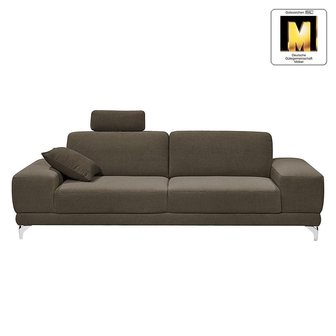 sofa casual line 3 sitzer velours keine funktion dunkelbraun claas claasen bestellen. Black Bedroom Furniture Sets. Home Design Ideas