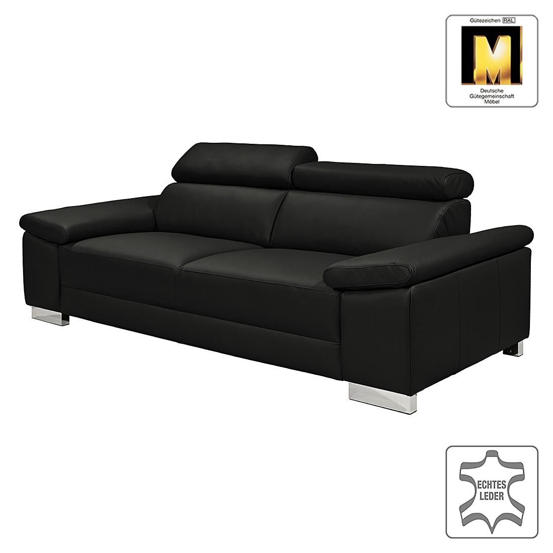 Sofa casual line iii 2 sitzer echtleder schwarz for Sofa entsorgen