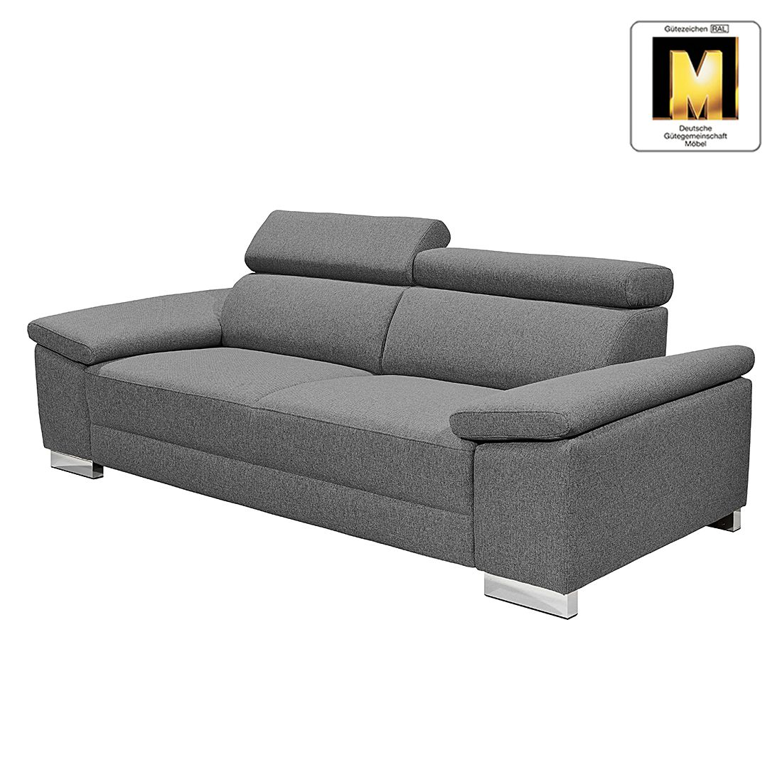 sofa casual line iii 3 sitzer strukturstoff dunkelgrau claas claasen g nstig bestellen. Black Bedroom Furniture Sets. Home Design Ideas