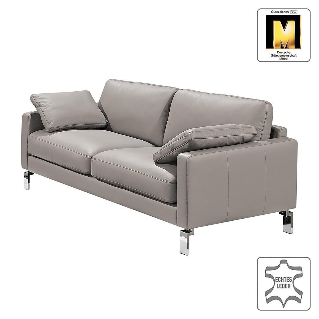 Sofa Casual Line IV (3-Sitzer) - Echtleder - Hellgrau - Gedecktes Leder, Claas Claasen