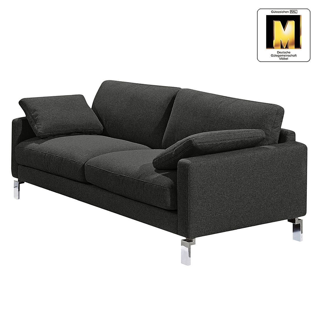 sofa casual line iv 3 sitzer strukturstoff anthrazit claas claasen kaufen. Black Bedroom Furniture Sets. Home Design Ideas