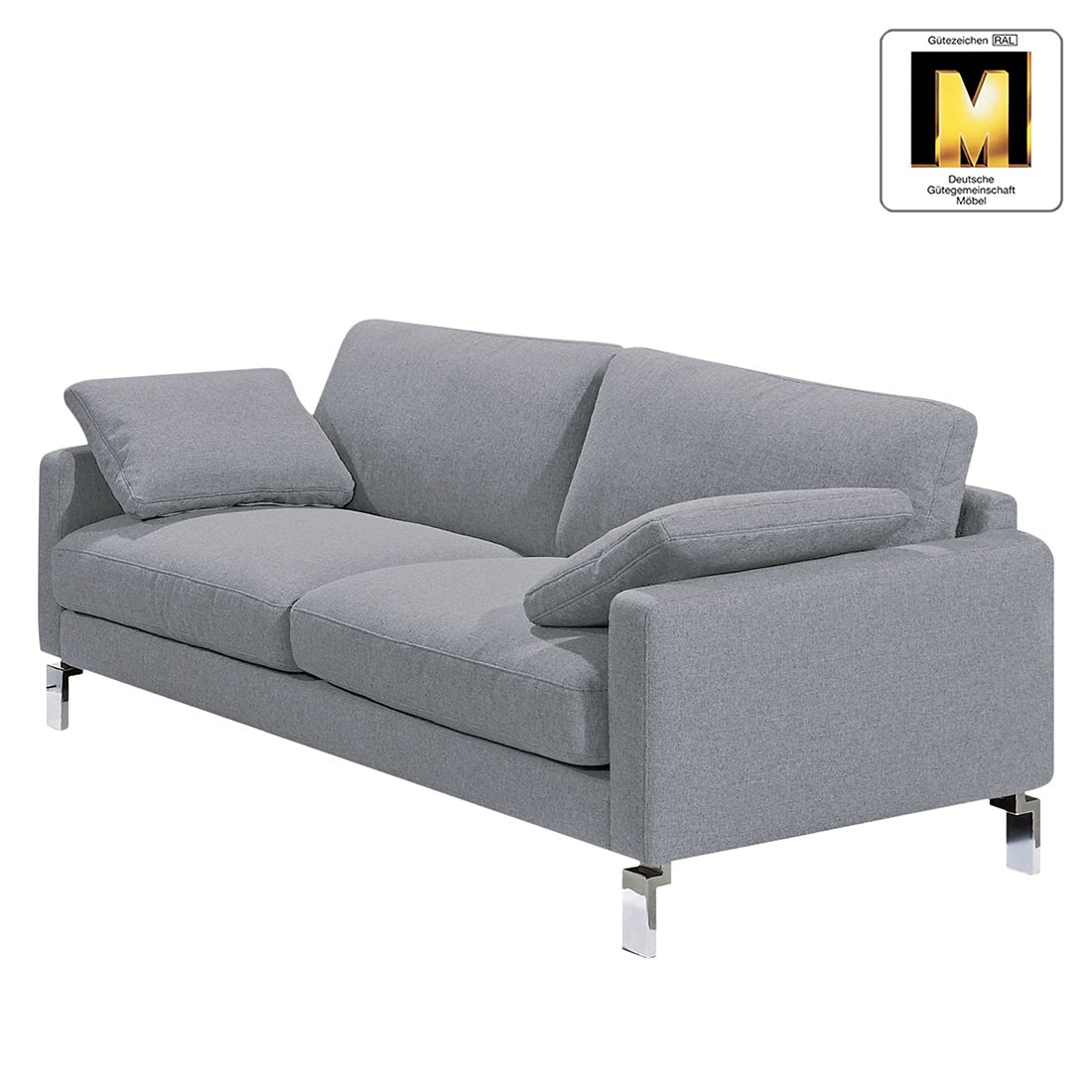 Sofa Casual Line IV (3-Sitzer) – Velours – Silbergrau, Claas Claasen jetzt kaufen