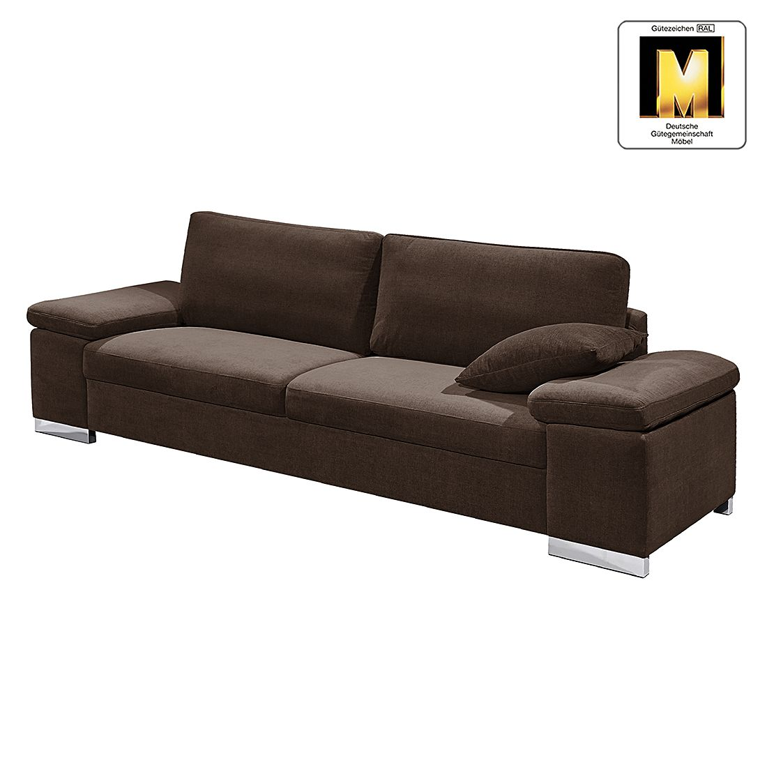 Sofa Casual Line V (2,5-Sitzer) – Velours – Dunkelbraun, Claas Claasen kaufen
