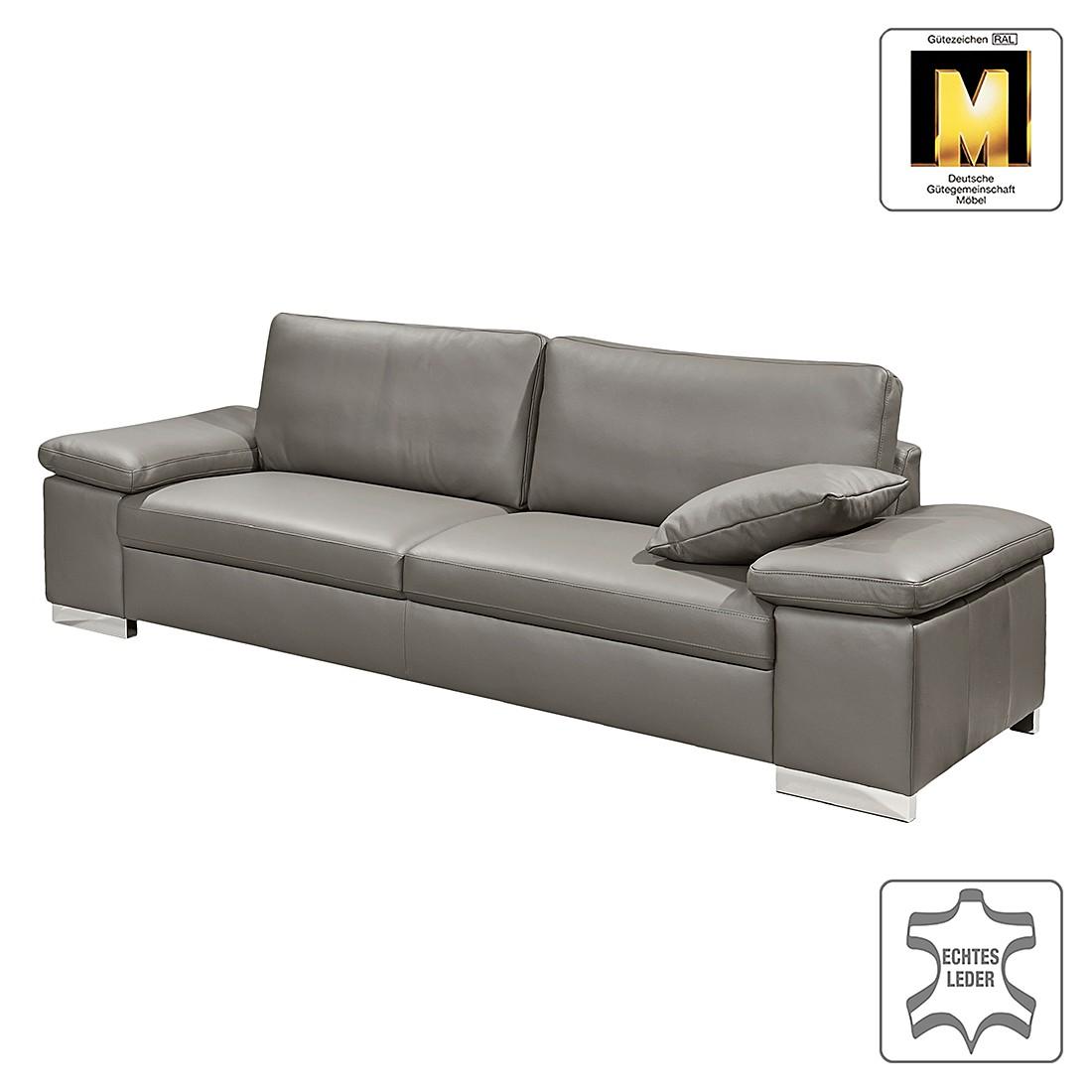 Sofa Casual Line V (3-Sitzer) – Echtleder – Grau – Gedecktes Dickleder, Claas Claasen online bestellen