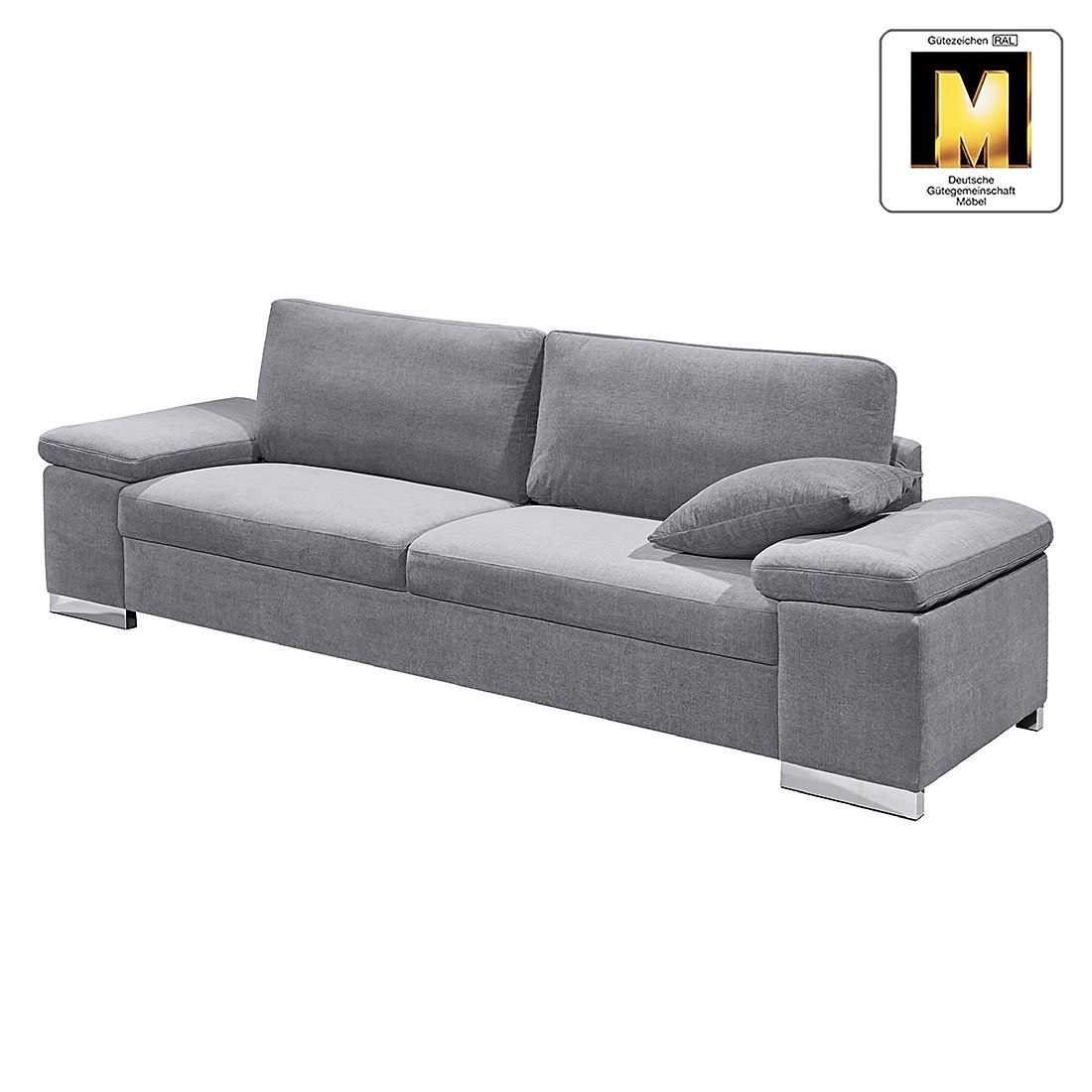 Sofa Casual Line V (3-Sitzer) – Velours – Silbergrau, Claas Claasen jetzt bestellen