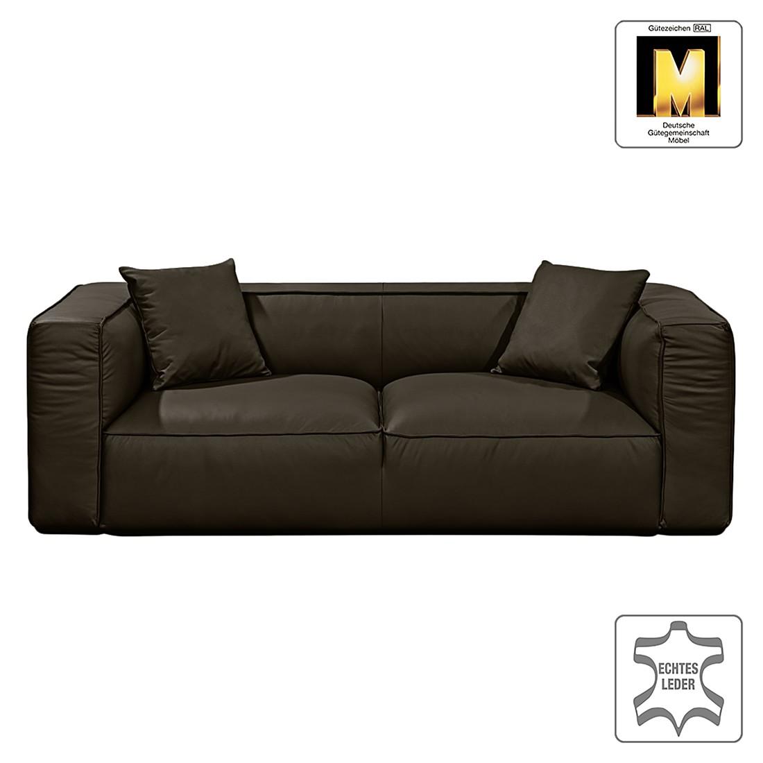 Sofa Casual Line VIII (2-Sitzer) – Echtleder Dunkelbraun, Claas Claasen günstig