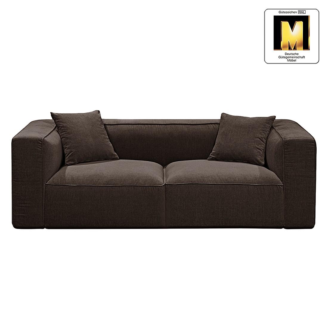 Sofa Casual Line VIII (2-Sitzer) – Velours Dunkelbraun, Claas Claasen online kaufen