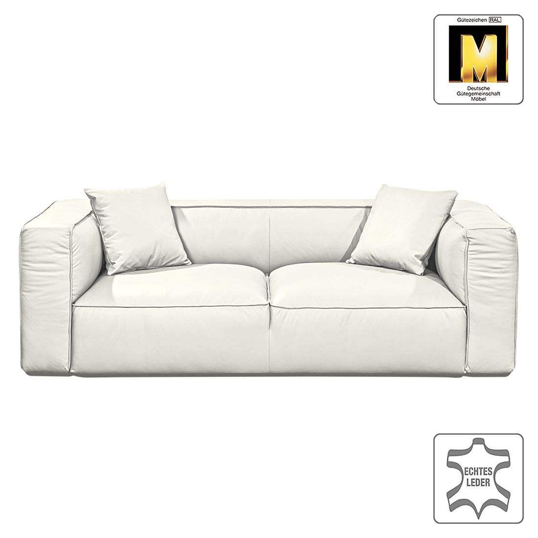 sofa casual line viii 3 sitzer echtleder creme claas claasen g nstig kaufen. Black Bedroom Furniture Sets. Home Design Ideas