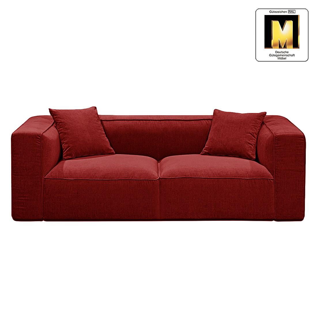 Sofa Casual Line VIII (3-Sitzer) – Velours Dunkelrot, Claas Claasen günstig kaufen