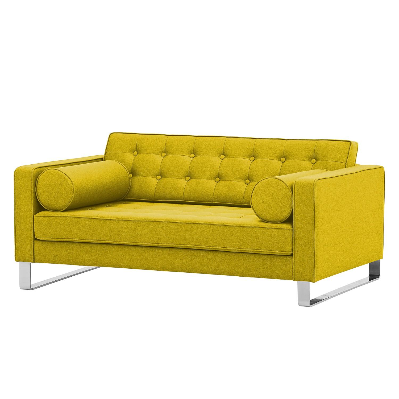 Sofa Chelsea (2-Sitzer) - Webstoff - Kufen - Stoff Milan Gelb, Fredriks
