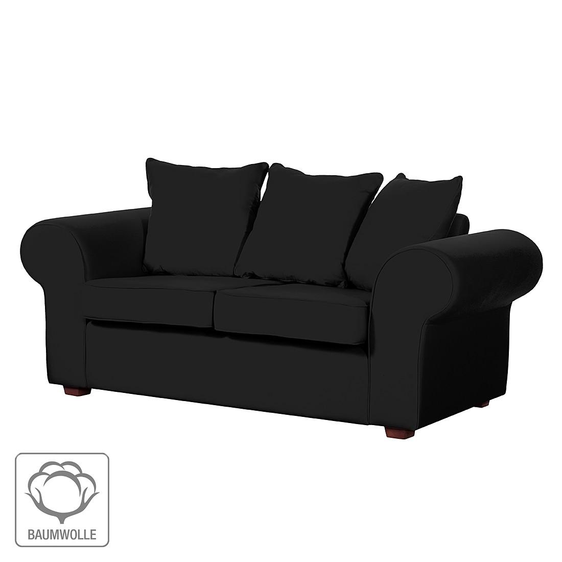 Sofa Colmar (2-Sitzer) – Baumwollstoff Schwarz, Jack & Alice kaufen