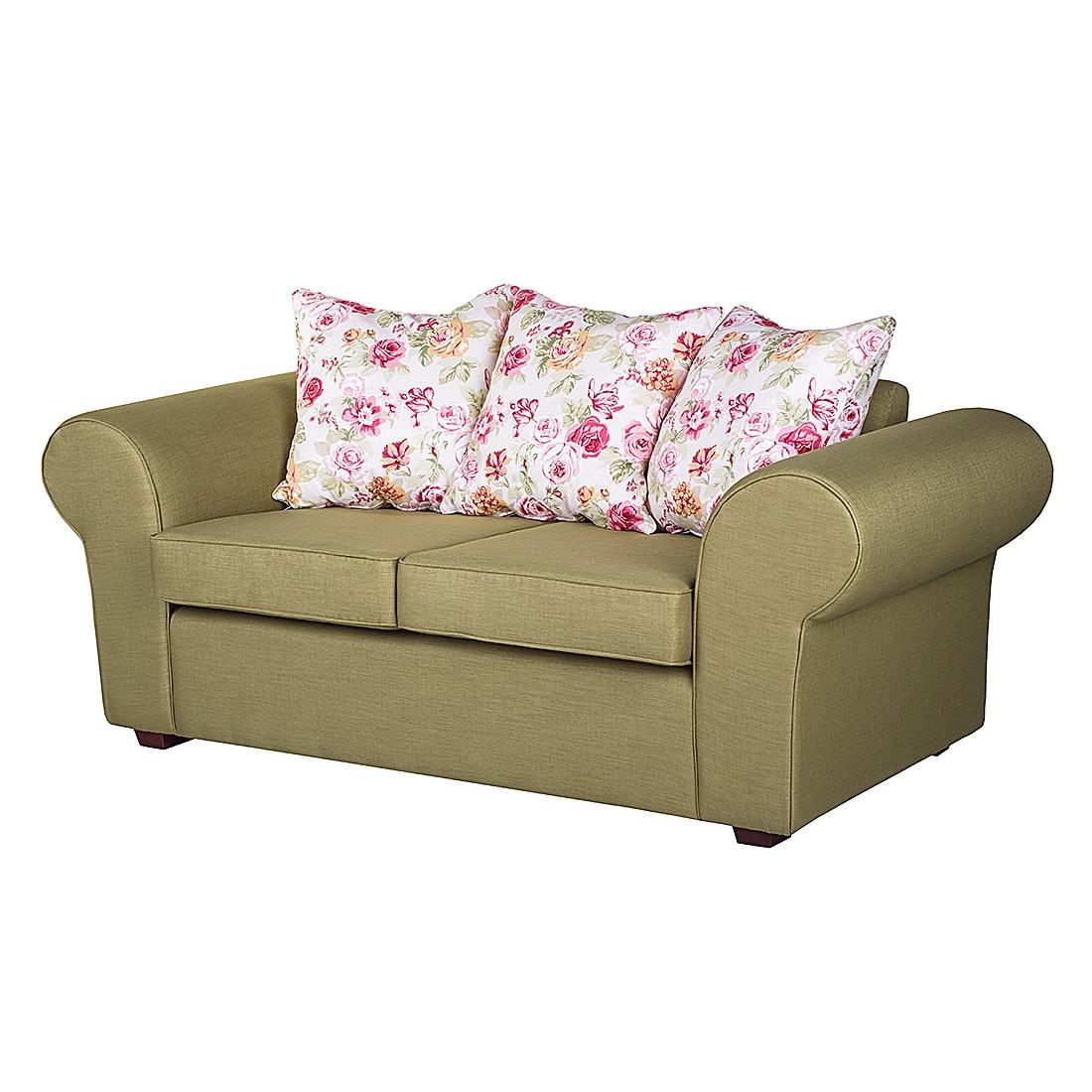 Sofa Colmar (2-Sitzer) – Grün / Pink, Jack & Alice günstig kaufen