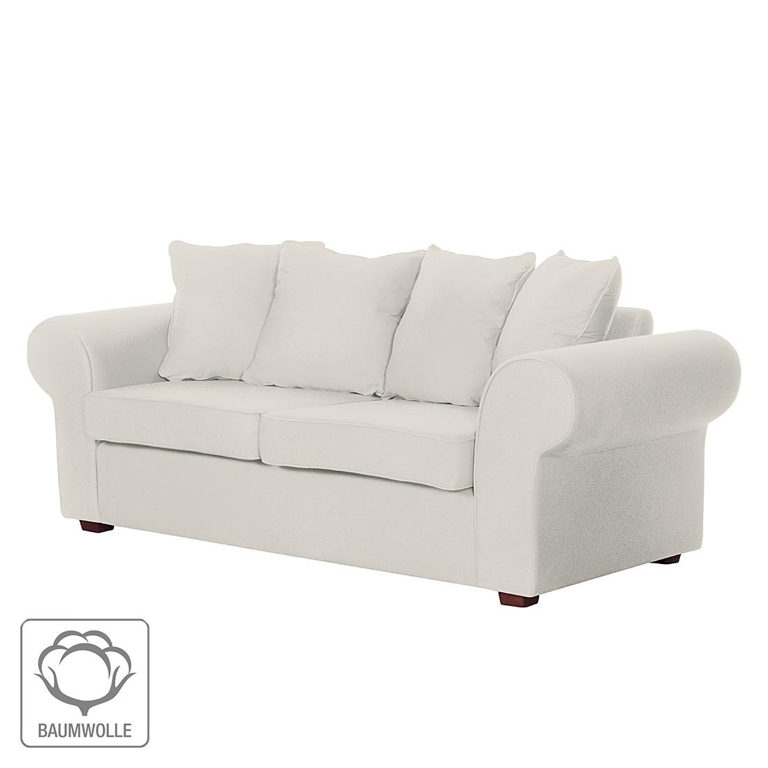 Sofa Colmar (3-Sitzer) – Baumwollstoff Beige, Jack & Alice günstig online kaufen