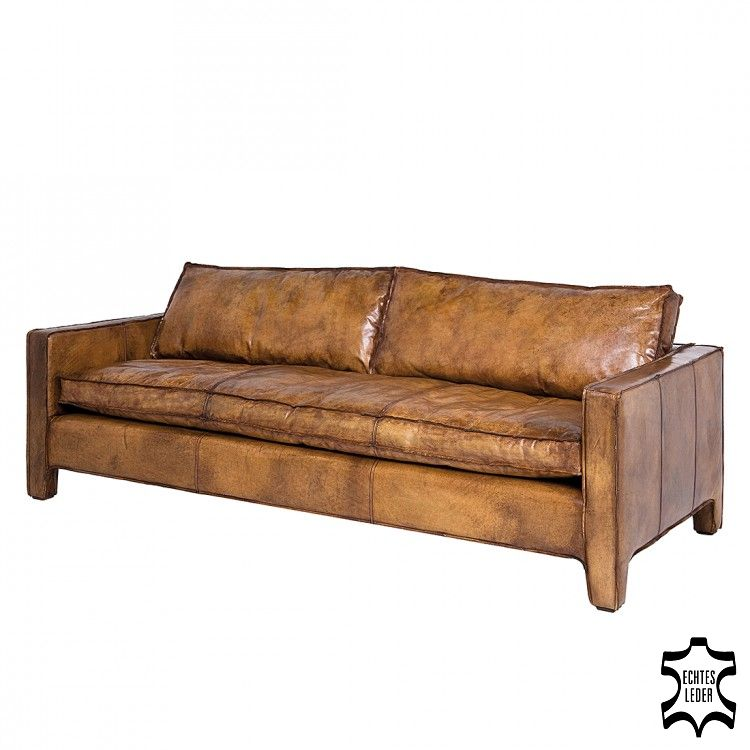 Sofa Comfy Buffalo Brown – Echtleder Braun, Kare Design günstig