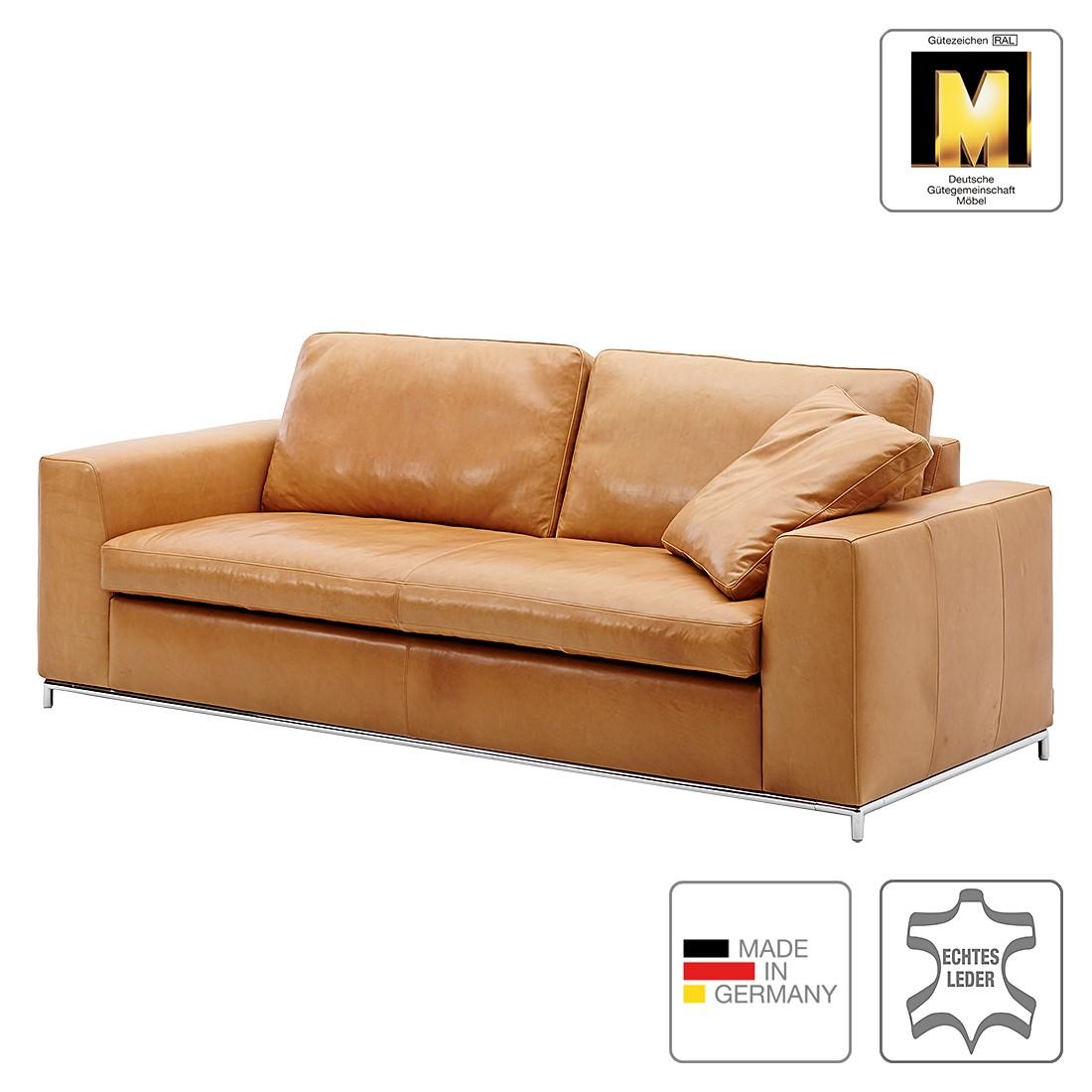 Sofa Concept102-M (2,5-Sitzer) – Echtleder – Cognac – Ohne Kissen, Machalke Polsterwerkstätten online bestellen