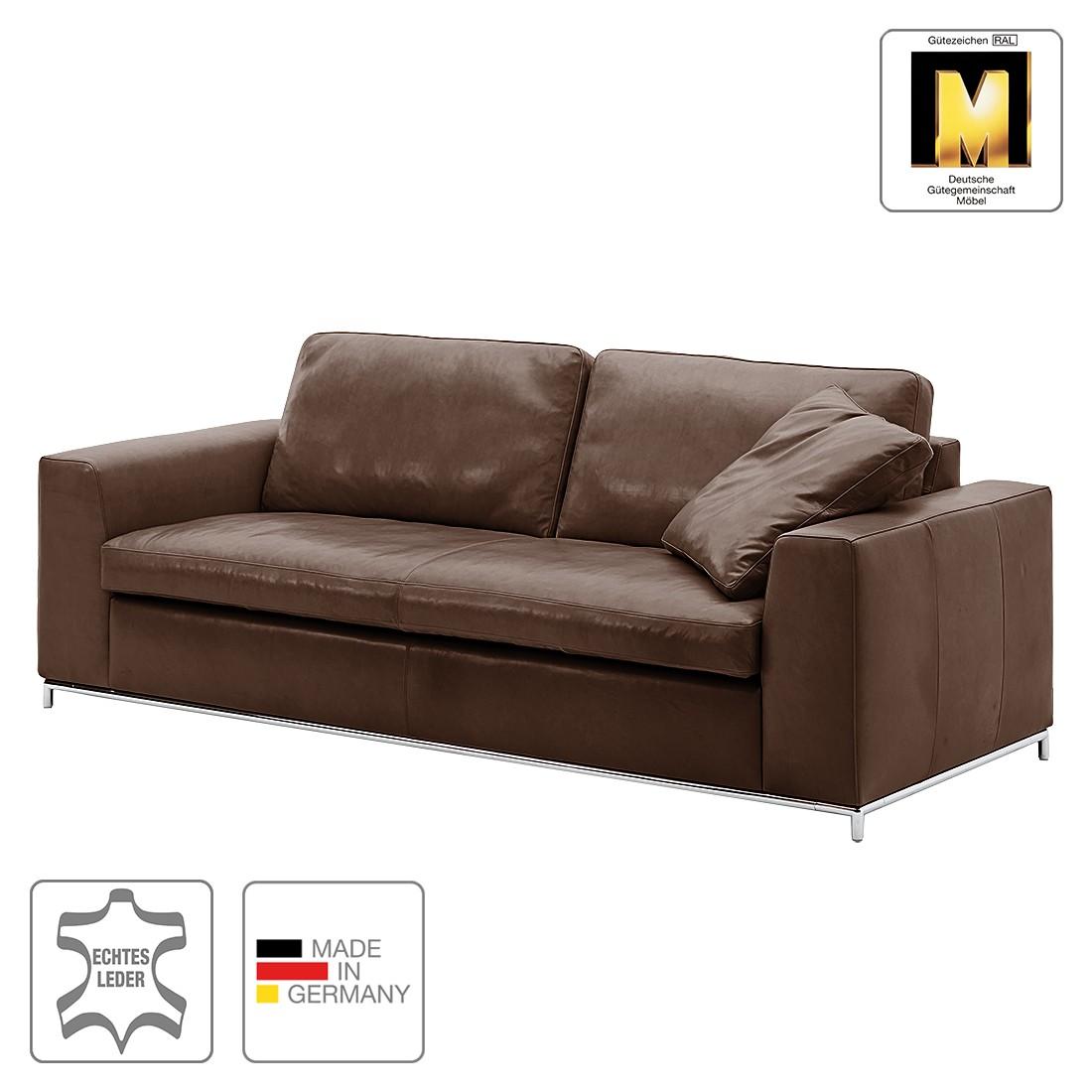 Sofa greg 3 sitzer echtleder anthrazit ohne kissen for Sofa ohne kissen