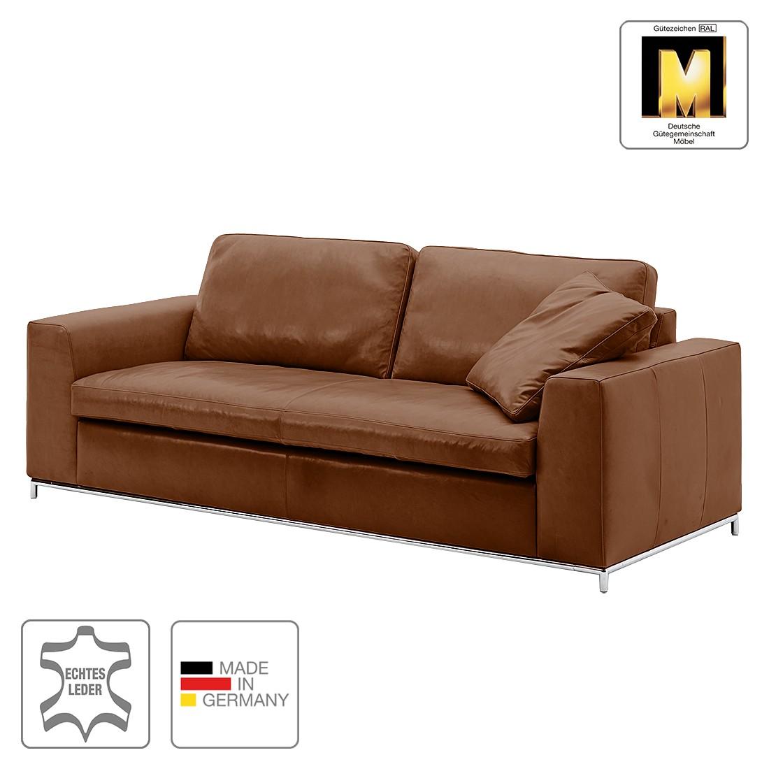 Sofa Concept102-M (3-Sitzer) – Echtleder – Braun – 1 Kissen, Machalke Polsterwerkstätten jetzt bestellen