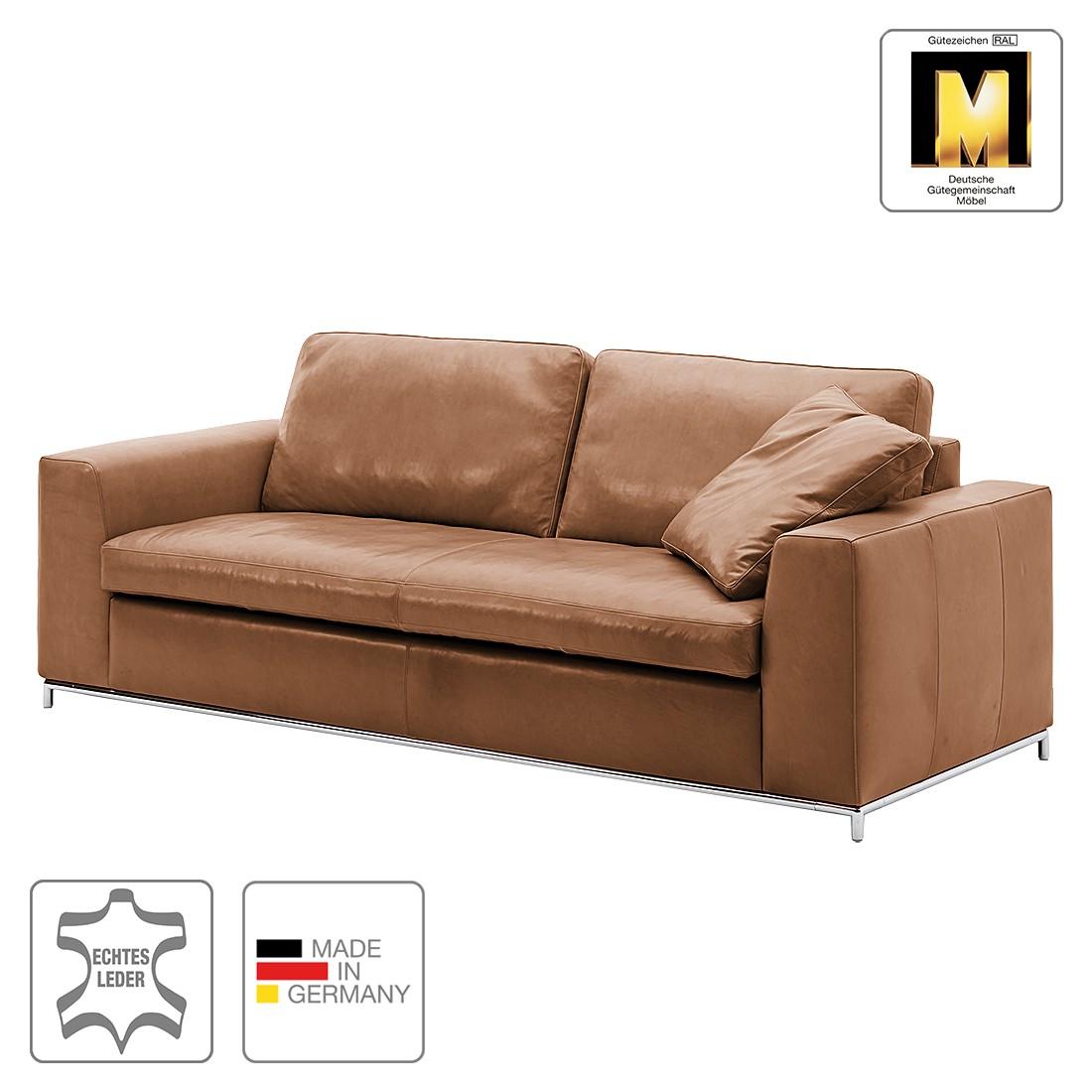 Sofa Concept102-M (3-Sitzer) – Echtleder – Hellbraun – 1 Kissen, Machalke Polsterwerkstätten günstig kaufen