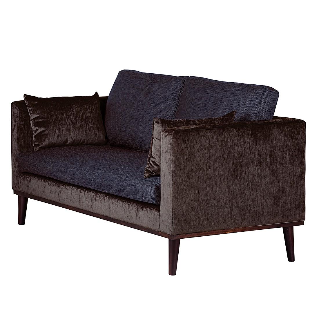 Sofa Dauphine (2-Sitzer) – Webstoff Dunkelblau/Samtstoff Mocca, Maison Belfort günstig kaufen
