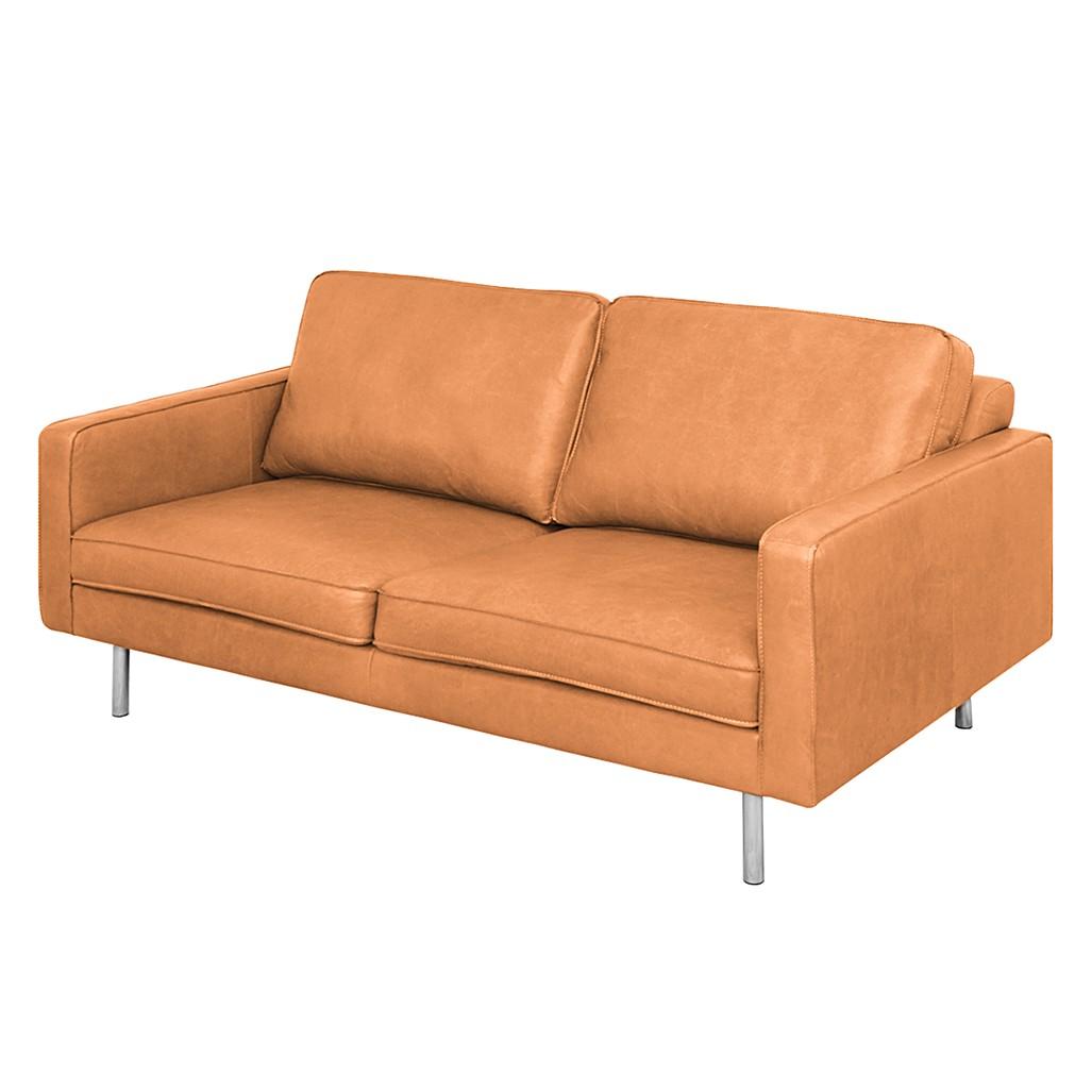 Sofa Elgard (2-Sitzer) - Echtleder - Terrakotta, Nuovoform