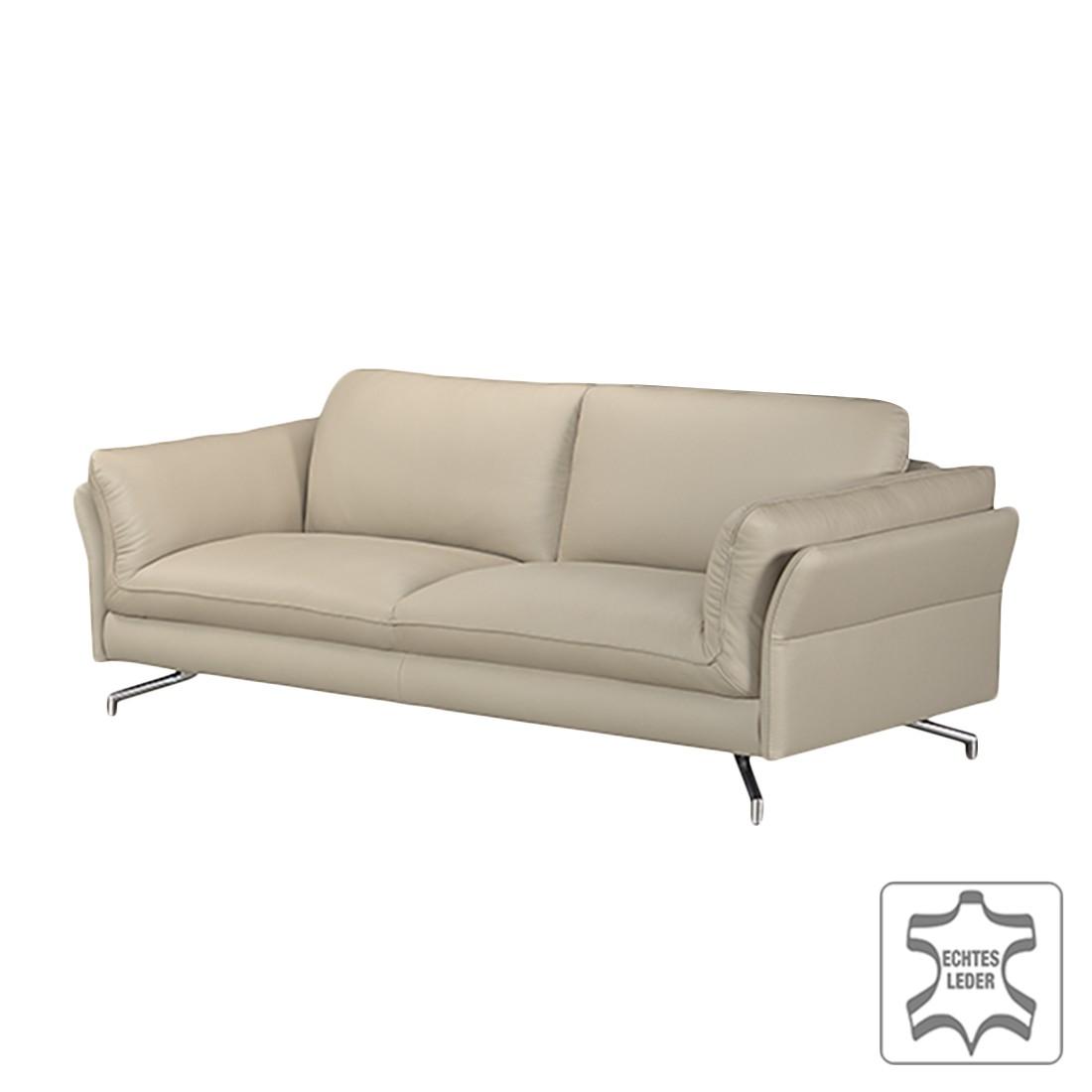 sofa enrico 2 5 sitzer echtleder beige mit 1 kopfst tze loftscape g nstig bestellen. Black Bedroom Furniture Sets. Home Design Ideas