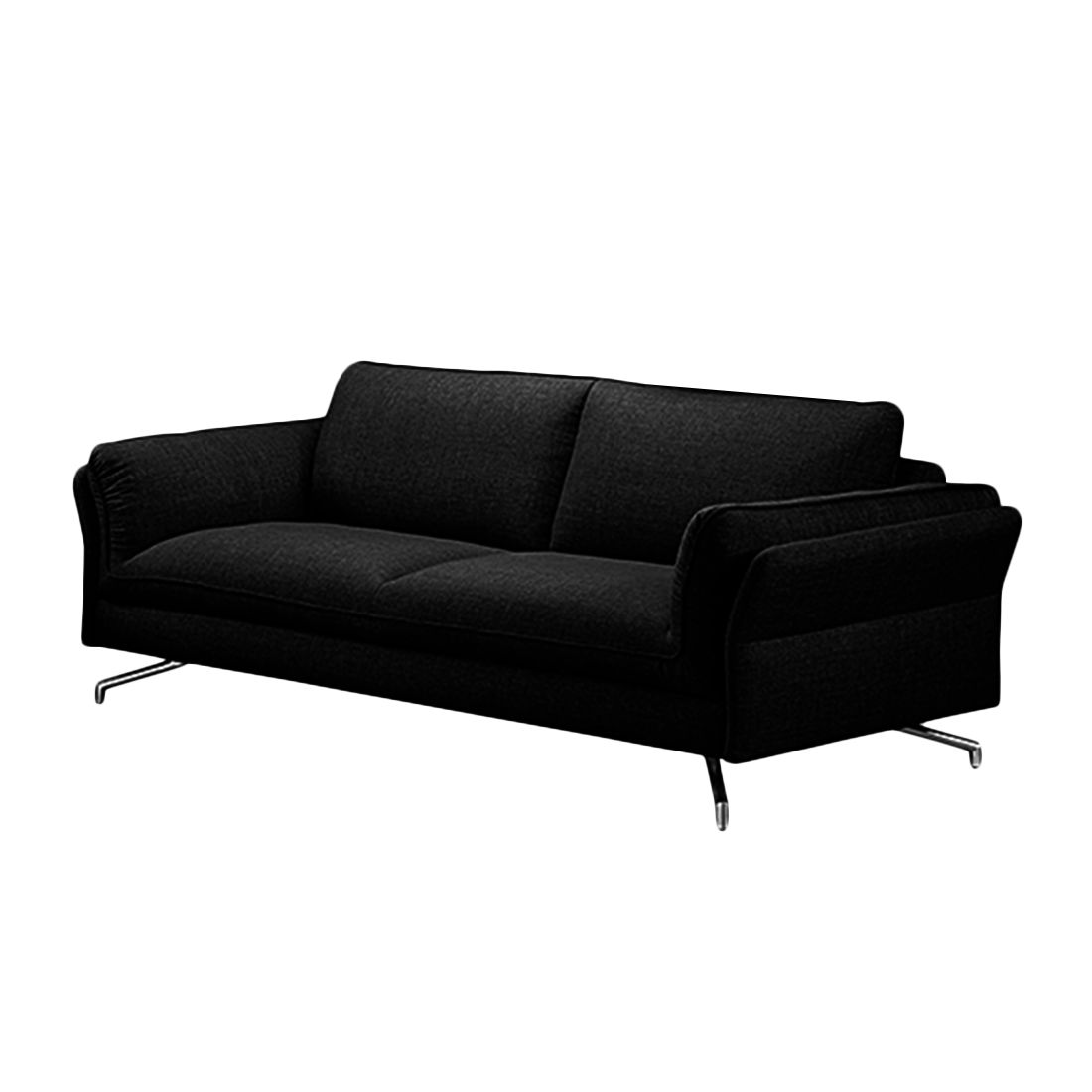 Sofa Enrico (2,5-Sitzer) – Webstoff Schwarz – Mit 1 Kopfstütze, loftscape online bestellen