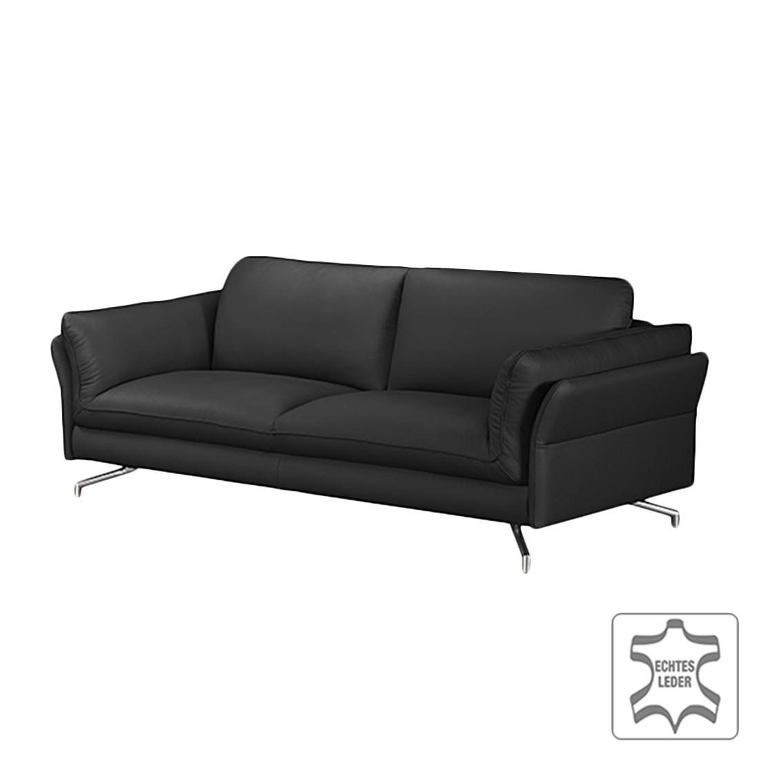 sofa enrico 2 sitzer echtleder schwarz ohne kopfst tze loftscape g nstig. Black Bedroom Furniture Sets. Home Design Ideas