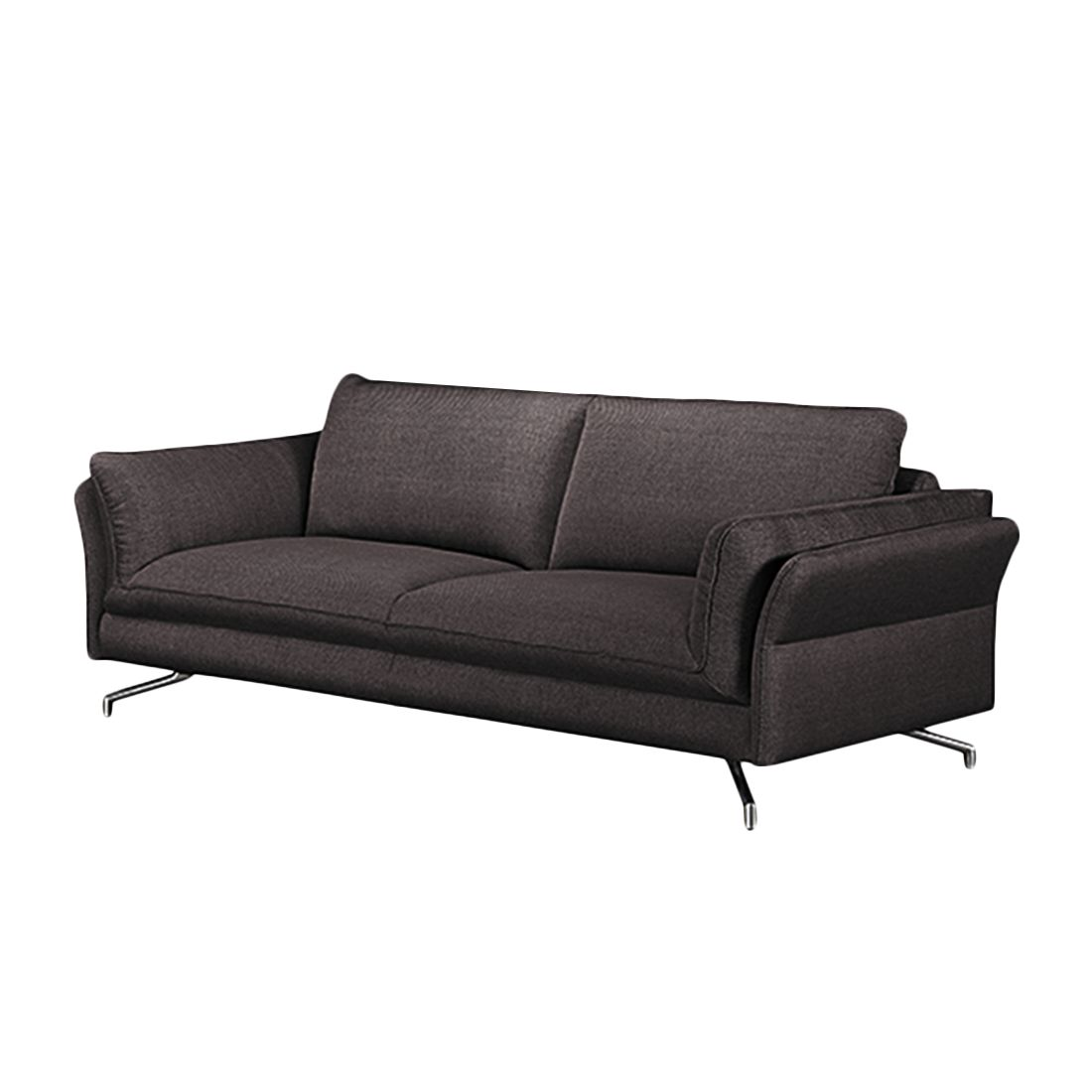 sofa enrico 3 sitzer strukturstoff braun mit 1 kopfst tze loftscape online bestellen. Black Bedroom Furniture Sets. Home Design Ideas