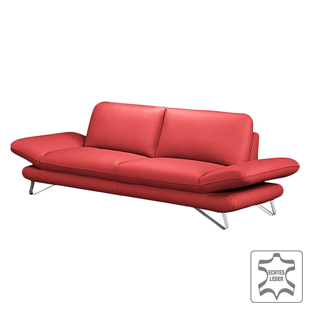 polstergarnitur enzo 3 2 5 echtleder kaminrot mit 2. Black Bedroom Furniture Sets. Home Design Ideas