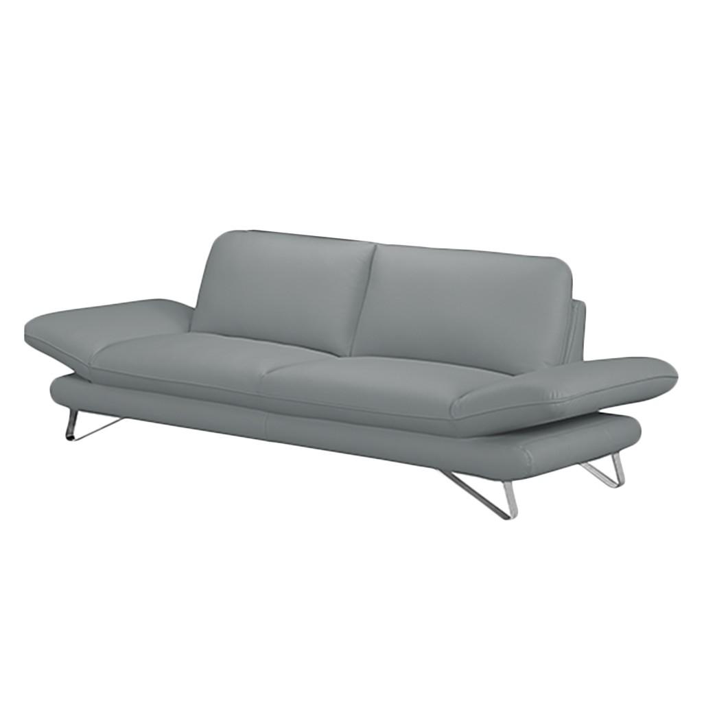 sofa enzo 2 5 sitzer kunstleder grau ohne kopfst tze loftscape kaufen. Black Bedroom Furniture Sets. Home Design Ideas
