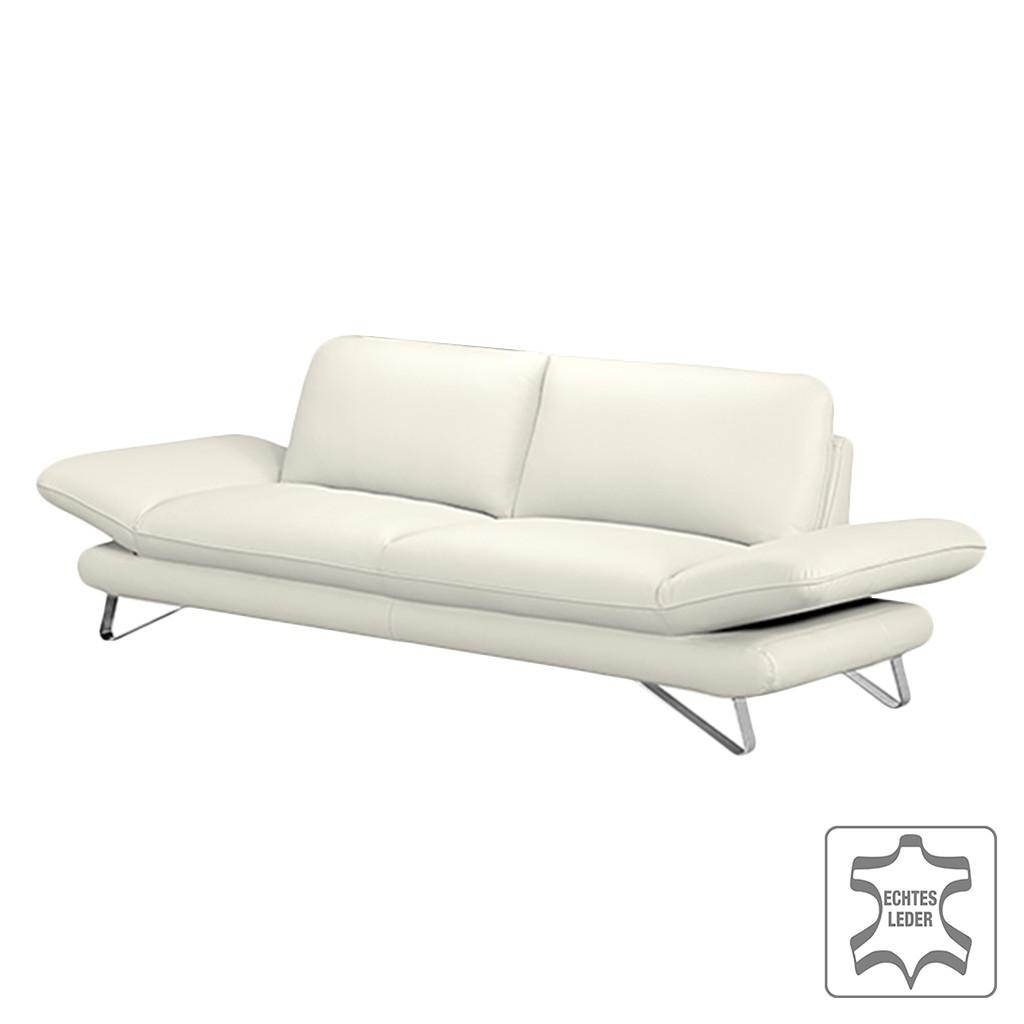 sofa enzo 3 sitzer echtleder wei ohne kopfst tze loftscape g nstig online kaufen. Black Bedroom Furniture Sets. Home Design Ideas