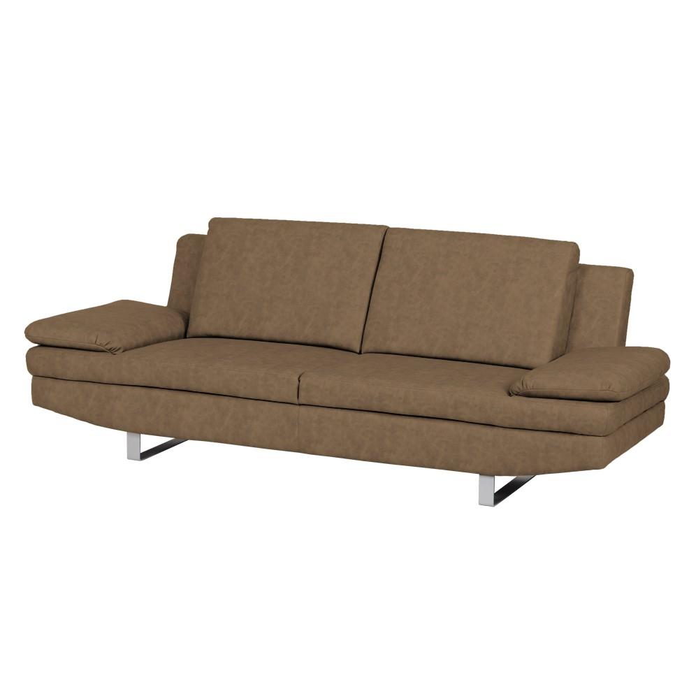 sofa felipa 3 sitzer kunstleder hellbraun modoform. Black Bedroom Furniture Sets. Home Design Ideas