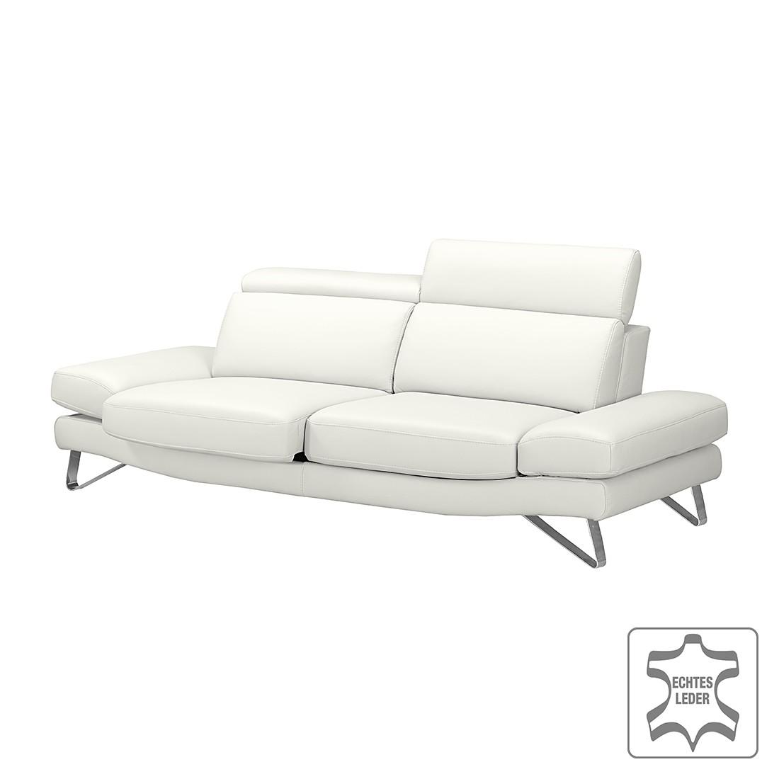 sofa finnley 3 sitzer echtleder wei loftscape g nstig. Black Bedroom Furniture Sets. Home Design Ideas
