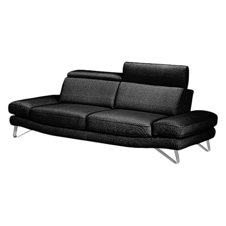 Sofa Space (2-Sitzer) - Lederlook Anthrazit, Ultsch Polstermöbel ...