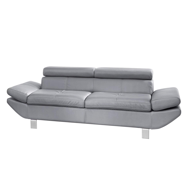 Sofa Fries (2-Sitzer) - Kunstleder- Hellgrau, Cotta