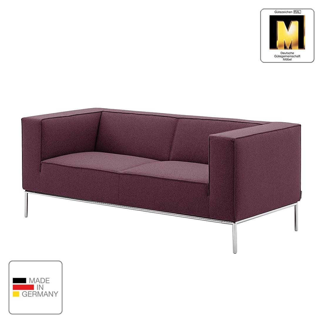 Sofa Greg (2-Sitzer) - Webstoff - Aubergine - 1 Kissen, Machalke Polsterwerkstätten